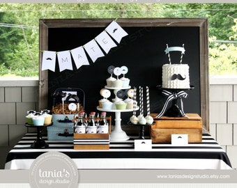 Little Mister Printable Baptism Party Package by tania's design studio
