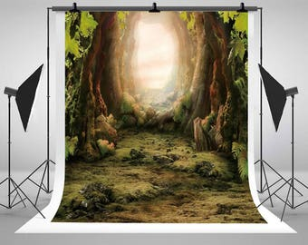 Vintage Fairy Tale Forest Photography Backdrops Newborn Baby Photo Backgrounds for Children Studio Props