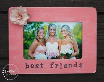 Custom Best Friend Picture Frame 4x6, Personalized Gift for Friend, Bridesmaid Gift, Best Friend Gift, Long Distance Friendship Gift, Sister