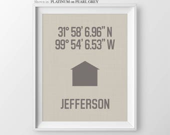 Our First Home Coordinates Print Personalized Housewarming Gift Gift For Couple New Home Gift First Home Gift Latitude Longitude