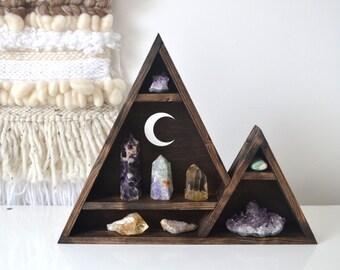 Triangle shelf, Geometric shelf, crystal shelf