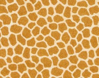 Jungle Babies Giraffe Skin Nursery FLANNEL Fabric by the yard