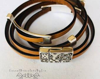 Wrap Bracelet, Bead Bracelet, BOHO Jewelry, Beaded Bracelet, BOHO Bracelet, Leather Bracelet, Handmade Jewelry, Leather Wrap, For Her