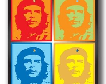 Latin icon Che Guevara colorful magnet