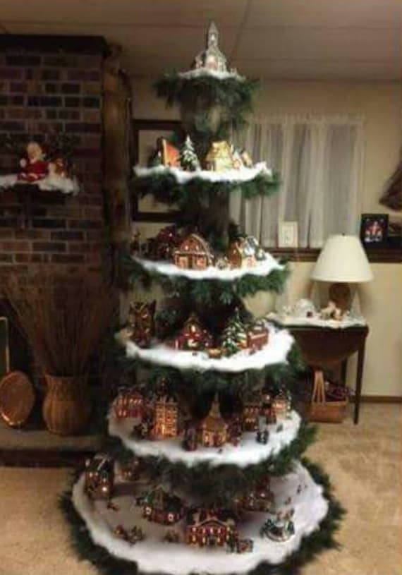 Christmas Village Display Tree Plans