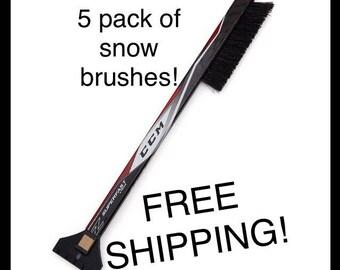 5 Pack Hockey Stick Car Snow Brush- FREE SHIPPING