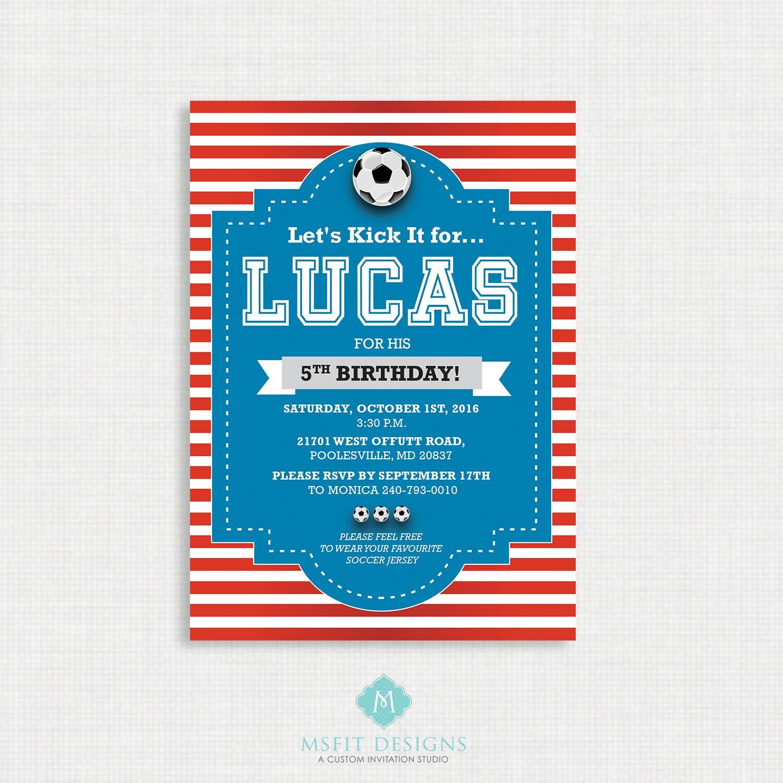 World Cup Invitation- Soccer Birthday Invitation, Soccer Birthday ...