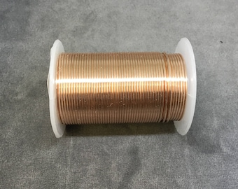 FULL SPOOL - 18 Gauge Beadsmith Brand Tarnish Resistant Rose Gold Craft Wire - 10 Yards (30 Feet) - Great for Wire Wrapped Jewelry!