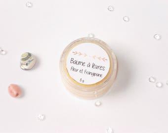 """Flower and frangipani"" lip balm - 100% natural shea butter - 10 ml or 8 g"