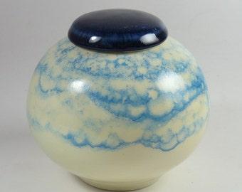 Urn for ashes in stoneware porcelain/ Lidded Vase / Lidded Jar / Pet Urn