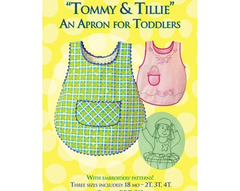 Tommy & Tillie toddler apron sewing pattern