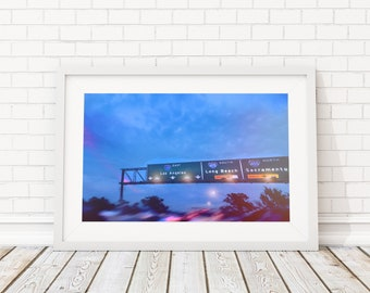 8x10 SUNSET FREEWAY PHOTOGRAPHY Los Angeles 10 Freeway Print (Digital Download)