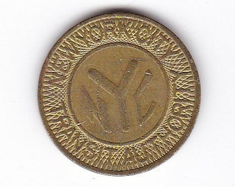 New York City Transit Authority NYC subway large Y solid token 1980-1985