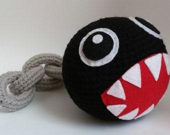 Super Mario Inspired Chain Chomp Amigurumi Crochet Pattern