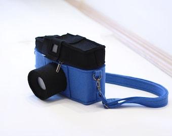 Blue LOMO Diana Camera Felt Bag Felt Clutch