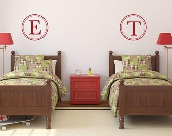 Monogram for Boys | Monogram for Girls | Nursery Monogram | Monogram Wall Decal | Initial Monogram Wall Decor