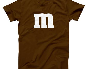M & Candy Costume Set Funny Humor Halloween Group Men's T-Shirt DT0206
