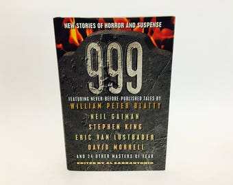 Vintage Horror Book 999 Edited by Al Sorrentonio 1999 First Edition Hardcover Anthology