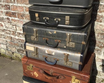 Vintage Suitcases | Vintage Luggage | Vintage Home Decor | Vintage Storage Solution | Vintage Cases | Photo Props