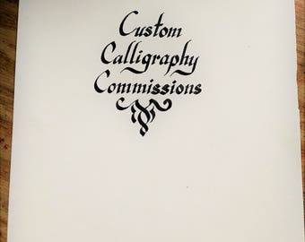 Custom Calligraphy Commissions