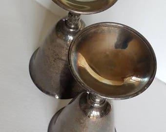 Vintage Set of 2 Metal Cups!