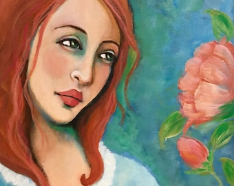 The Beauty of Spring - Original Portrait Painting