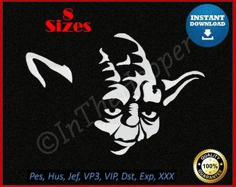 Star Wars Yoda Embroidery Designs Pes, Hus, Jef, Dst, Exp, Jef+, Vip, Vp3, Xxx