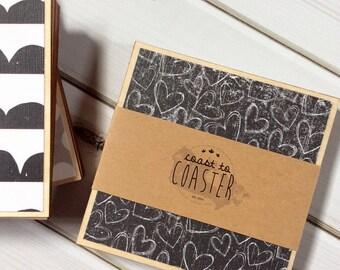 Valentines Gift, Heart Coasters, Heart Decor, Valentine's Day Gift, Farmhouse Decor, Rustic Home Decor, Wooden Coaster Set, Coasters, Wood C