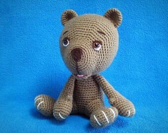 Amigurumi Baby Bear Cub PDF Crochet Pattern Animal Toy Doll