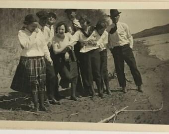 "Vintage Photo ""The Happiness Moment"" Snapshot Antique Black & White Photograph Paper Found Ephemera Vernacular Interior Design Mood - 90"
