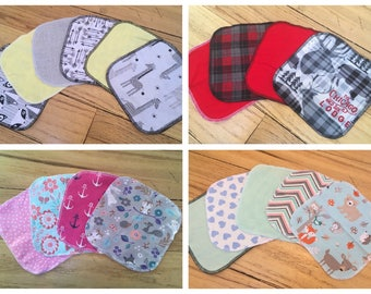 Mix and match cloth baby wipes