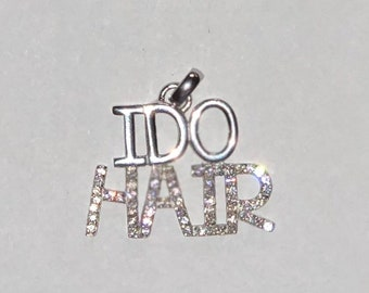 I Do Hair Pendent 100% Sterling Silver