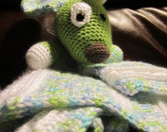 Handmade, Crocheted Patched Puppy Lovey