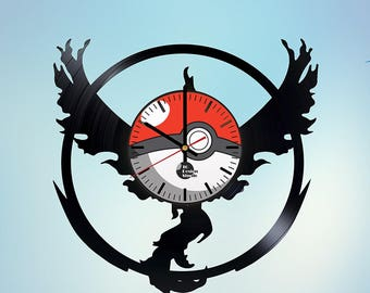 Pokemon Pokeball Vinyl Record Wall Clock
