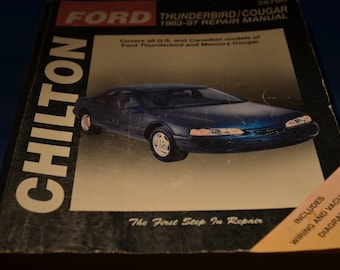Chilton Auto repair book for Ford Thunderbird and Cougar 1983 thru 1987