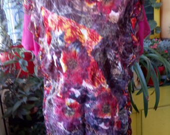 Nunofelting blouses Women's blouses Women's blazers Women's clothing Felted clothing Nunofelting clothing Red clothing Red blouses
