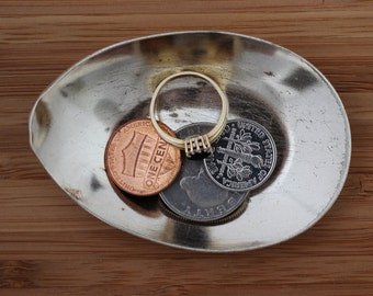 Vintage Spoon Ring Dish, Ring Holder, Coin Change Dish, Tiny Trinket Bowl, Jewelry Storage, Repurposed Silverware by Hendywood