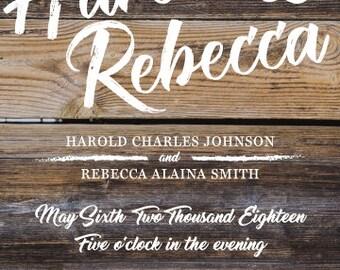 Wood Grain Invitation