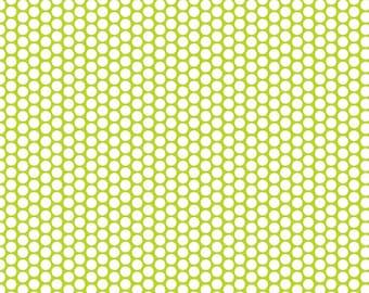 Riley Blake - Honeycomb Dot Lime - Fabric by the Yard