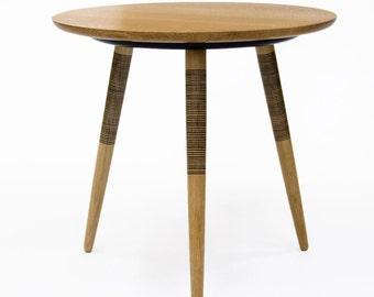 Tebori Table - Tripod Side Table - Waxed White Oak - Bedside Table