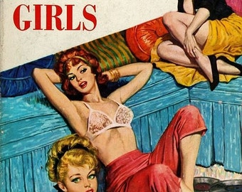 Lesbian interest 1962 cover art The Sorority Girls 8 x 10 image reproduction.