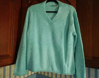 Vintage Mint Green with Silver Accents Sweater Size XL By Croft and Barrow