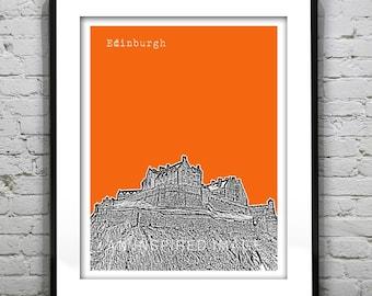 Edinburgh Skyline Poster Scotland Print Art Edinburgh Castle United Kingdom Version 1