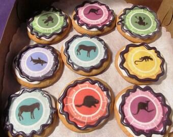 Wild Kratts Adventure disc sugar cookies