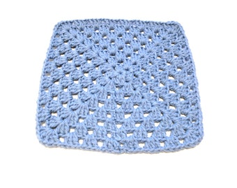 Light Blue Crocheted Square Dish Cloth