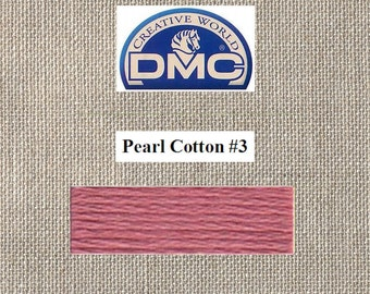 DMC Pearl 3 - Light Shell Pink - Color 223 - 15 Meters - By the Skein