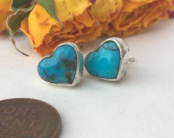 Kingman turquoise I AM LOVE earrings