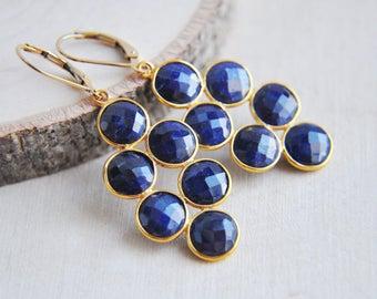 Sapphire Earrings, September Birthstone, Birthstone Jewelry, Blue Sapphire Earrings, Sapphire, Stone Earrings, Everyday Earrings, Boho