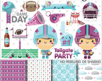 Football Clipart, 80%OFF, Football Graphics, COMMERCIAL USE, Sport, Sports, Planner Accessories, Football Party, American Football