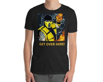Mortal Kombat Scorpion tee shirt.